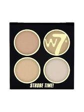 W7 Strobe Time Highlighting Palettes - Shimmer Highlighter Face Powder Vivid Glow