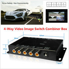 Mini Car 4 Way 4 View Video Switch Parking Camera Split-Screen Image Control Box