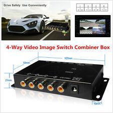 Mini Car 4 Way 4 View Video Switch Parking Camera Split-Screen Image Control Box