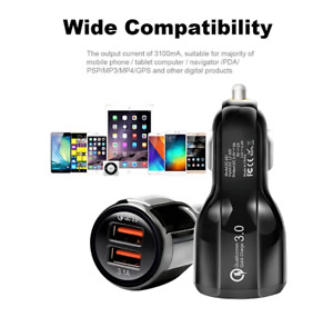 3.1A car charger Type  USB Fast In Car Charger Charging  Adapter