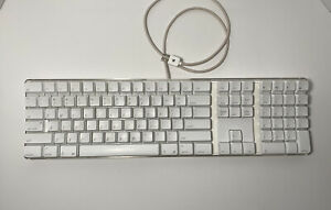 Genuine Apple Mac White USB Wired Keyboard  A1048 For Parts or Repair!