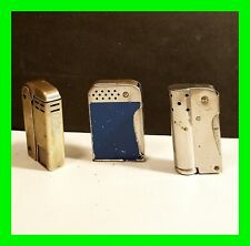 New Listing3x Vintage Petrol Squeeze Lighters Display Or Repair ~ All 3 Complete Not Workin