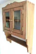 Solid Oak Handmade Wall Cabinet,Display Case,Ideal Present,Marrage,Birth,Retiree