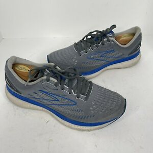 Brooks Mens Glycerin GTS 19 1103562E095 Gray Blue Running Shoes Size 10 2E Wide
