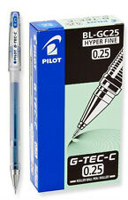 Pilot G-Tec-C Blue Hyper Fine 0.25mm - 12 Pack Gel Pen - PGTC2-BLU
