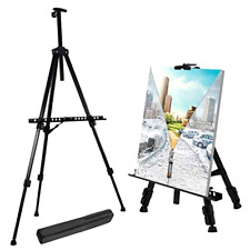 Adjustable Easel Stand Artist Easels For Display Metal Tripod Field Easel W/ Bag