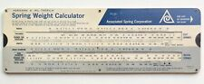 Vintage Associated Spring Carboard Slide Chart Spring Weight Calculator USA