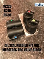 Mercedes Abc Valve Block Seal Repair Kit W220 W215 R230 Rebuild Kit , Oil Seals