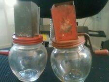 Two vintage coffee or nut grinders