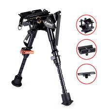 "Zeadio 6""-9"" Swivel Pivot Adjustable Spring Rifle Bipod with 3 Adapters UK"