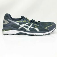 Asics Mens GT 2000 7 1011A159 Yellow Blue Running Shoes Lace Up Low Top Size 13