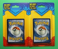 Pokemon Walmart Sealed 20 Cards 1 Foil Mystery Blister Packs X2 CHARIZARD??