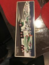 NEW NIB 2002 HESS COLLECTIBLE TOY TRUCK AND AIRPLANE REAL LIGHTS+Ramp