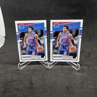 2020-21 Panini Donruss Saddiq Bey Rated Rookie Card Base #210 RC PistonsLot (2)