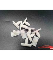 10 agrafes plastiques d'enjoliveur pare-chocs AV et AR Peugeot 205