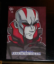 STAR WARS GALACTIC FILES SERIE 2 SKETCH CARD By Val Hochberg ULTRA RARE TOPPS