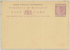DOMINICA  -  POSTAL STATIONERY : Higgings & Gage #2