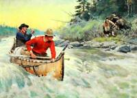 Pack Horse downhill to Winter Cabin by Phillip Goodwin Hunter Rider
