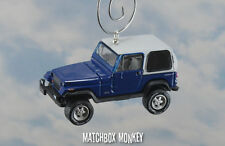 Blue 1990 Jeep Wrangler Custom Ornament 1/64 Adorno 4x4 White Hard Top YJ Sport