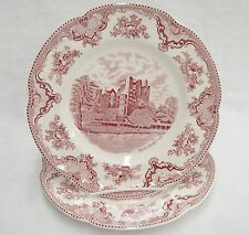 Johnson Bros Old Britain Castles 2 Dinner Plates Blarney 1792 Exc Condition 10in