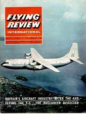FLYING REVIEW INTL OCT 65 NORTHROP F-5_BUCCANEER_Me163_WW2 Il-10_SHORT BELFAST R
