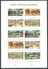 Such detail! Post Office Murals - Sheet of (10) Forever Stamps, MNH, FREE SHIP!