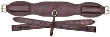 "Western Dark Oil  Leather 36"" x 5"" wide Cinch with off BIllets"