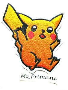 Embroidered Pokemon Patch Iron/Sew On  Fancy Dress Jeans  BADGE 9x7CM