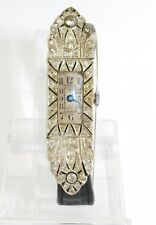 "ART DECO "" Platin "" Damenuhr um 1900 mit 60 Diamanten ca. 1,84 Ct antique watch"