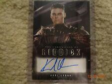 The Chronicles of Riddick Karl Urban as Vaako Autograph Rittenhouse