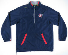 Columbus Blue Jackets Reebok Center Ice NHL Hockey 1/2 Zip Mens Pullover Jacket