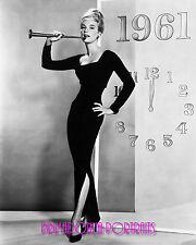 YVETTE MIMIEUX 8x10 Lab Photo 1961 HAPPY NEW YEAR GLAMOUR Sexy, Slinky Portrait