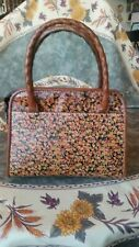 "Patricia Nash Floral ""Mini Bloom"" Satchel Handbag"