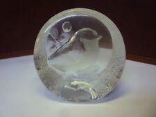 Vintage Swedish Mats Jonasson Glass Paperweight