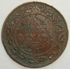 1914 CANADA ONE 1 CENT GEORGE V LARGE PENNY COIN