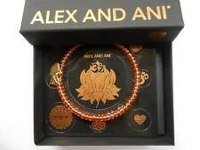 Alex and Ani Color Palette Wrap Bangle Bracelet Apricot Rafaelian Gold NWTBC
