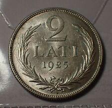 More details for latvia 2 lati 1925 silver superb   wca # a017