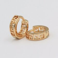 10mm High Quality Small 925 Sterling Silver Rose Gold Plated hoops Earrings