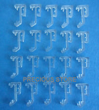 10 pcs 1 Inch Mini Blind Single Slat CLEAR Valance Retainer Clips 1""