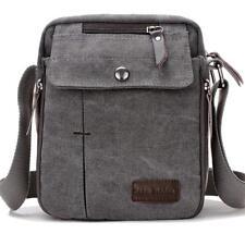 Crossbody Bags Canvas Men's Messenger Bag Shoulder Bag Satchel Bag Bookbag-Gray