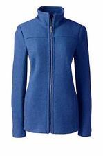 LANDS' END Plus Size 18W Cobalt Blue Boiled Wool Jacket NWT $119