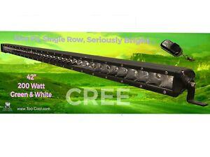 """42"""" Green & White LED CREE Light Bar 200 Watt"""