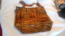 Saks Fifth Avenue Made in Italy Purse Handbag Autumn Colors Plastic Chain (Ai