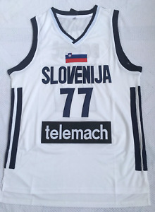 Luka Doncic #77 Slovenia National basketball jersey Men's Stitched White