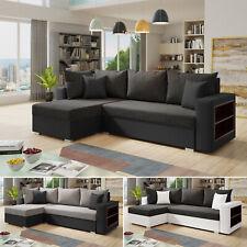Ecksofa Lord mit praktischen Regal - Sofa mit Bettkasten, Schlaffunktion, L-Form