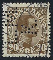 Denmark Perfin L49-L.M./K.: Landbrugs Maskin Komagniet (1922-26) 20 ore, RF: 300