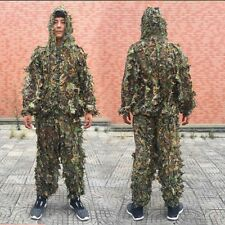 Plus Size 3D Camouflage Leaf Clothing Hunting Yowie Sniper Archery Ghillie Suit