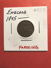 1945 England Farthing World Coin Circulated #563