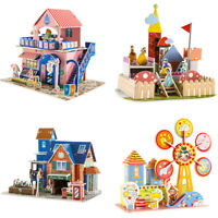 3D DIY Puzzle Jigsaw Cartoon Castle House Early Educational Toys Kids Gifts #8FR