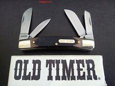 """Schrade Old Timer 3.5"""" Big Man 4OT,4 BLADE  Folding Pocket Knife,Hunting,Bush"""